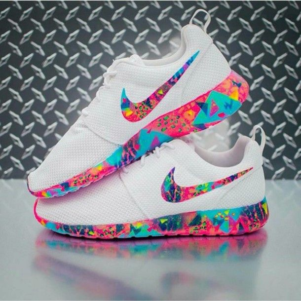colorful nike shoes
