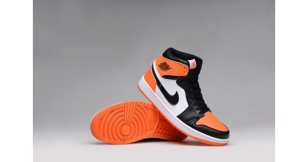 orange nike shoes